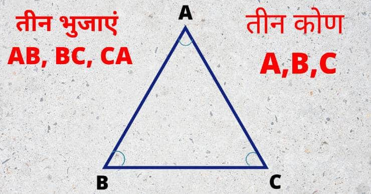Triangle in hindi - त्रिभुज
